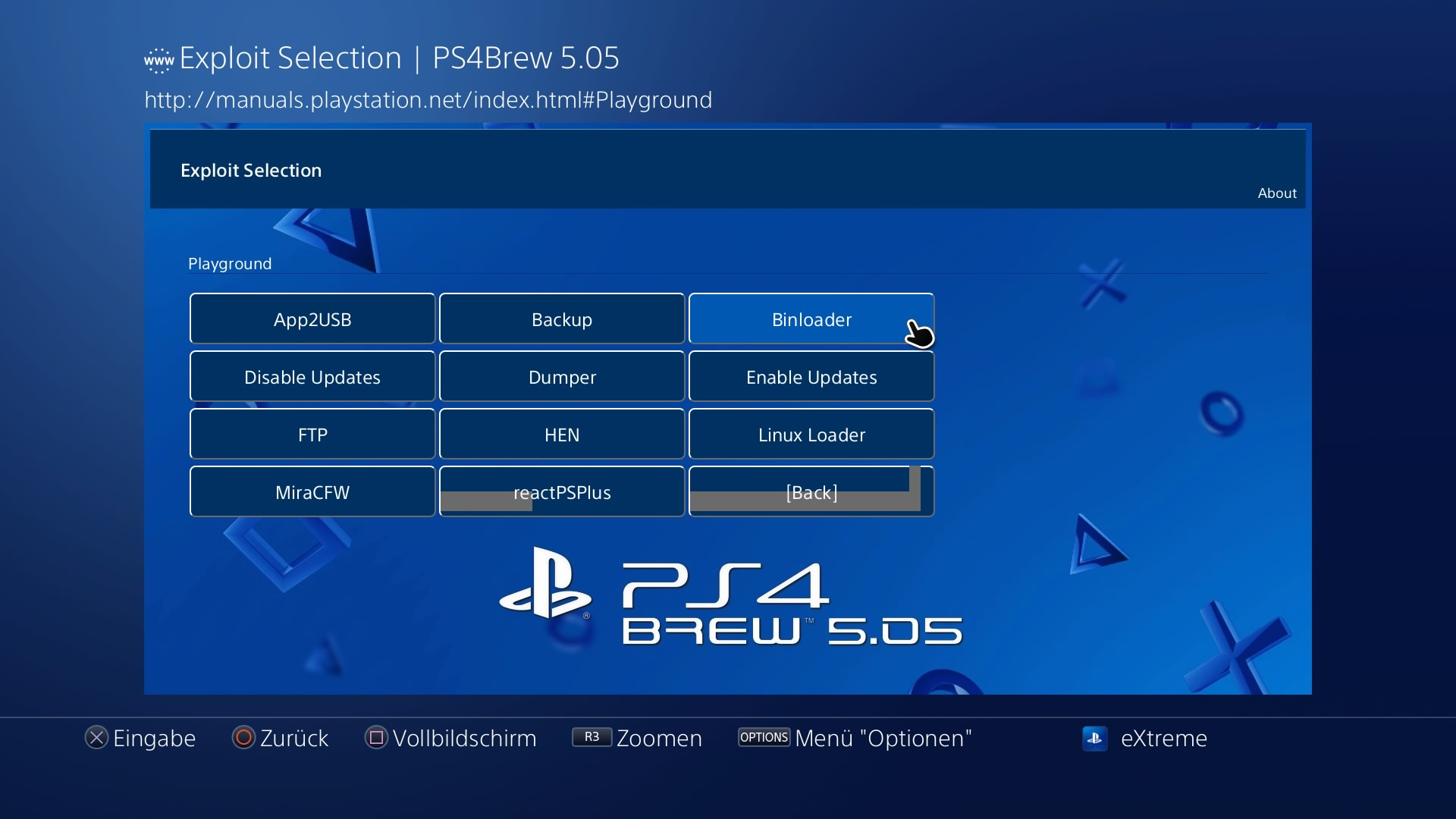 PS4 - PS4Brew 5 05 (Custom Playground) from eXtreme modding | PSX-Place