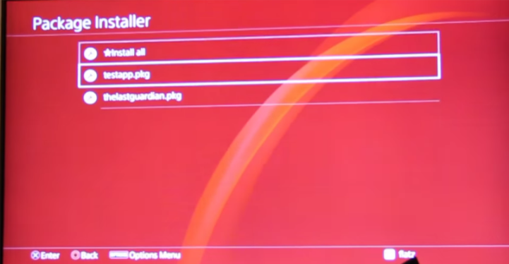 PS4 - Custom PKG on Retail PS4 - New method shown by flatz