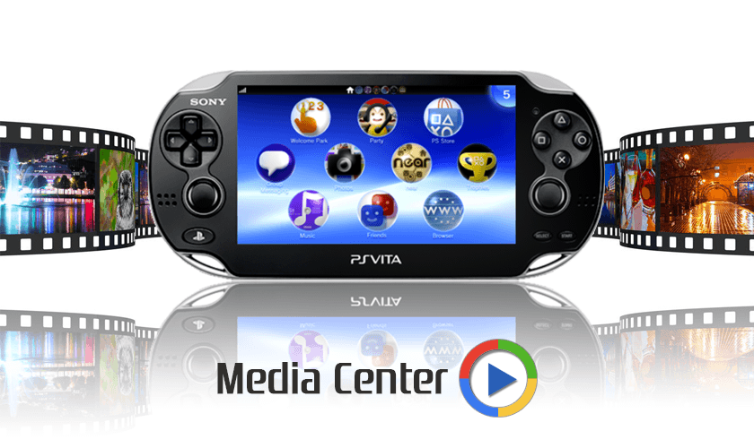 PS VITA / PS TV - Vita Media Center (WIP - v0 1) by Arkanite