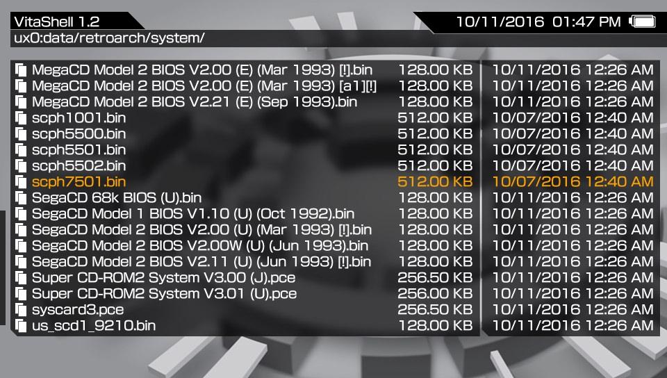 PS VITA / PS TV - RetroArch (Vita/PsTV) - Now a True multi-system