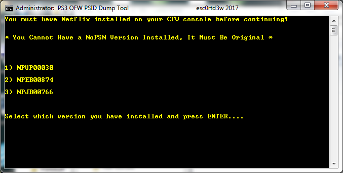 PS3 - [Tutorial] Dump PSID From OFW Using Netflix and DTU   PSX-Place