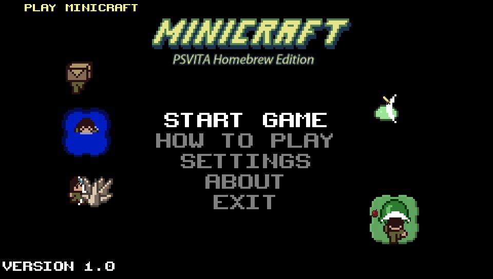 PS VITA / PS TV - Minicraft PSVITA Homebrew Edition port by
