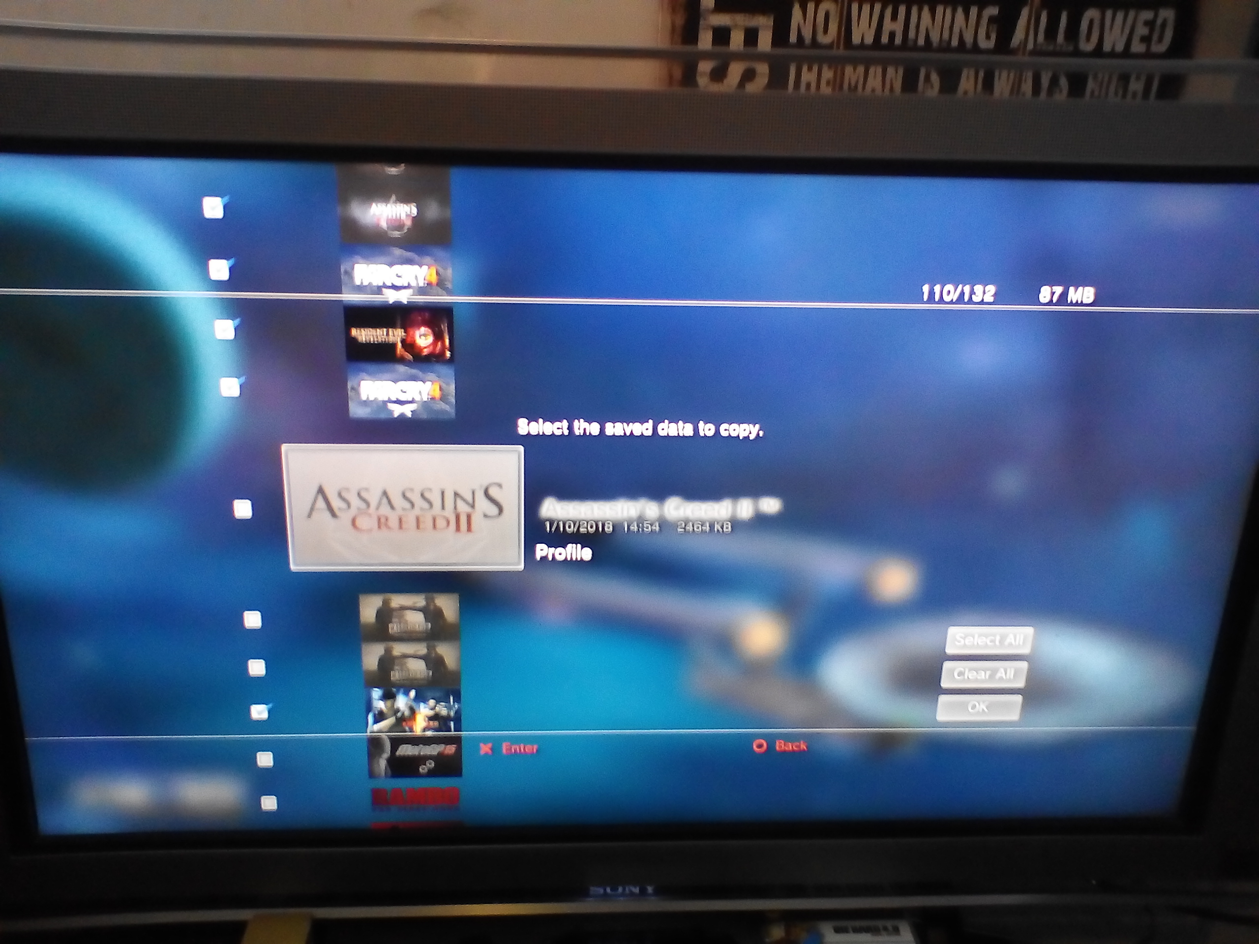 PS3 - Backed up saves FROM OLD SYSTEM not copying to new system