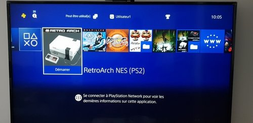 PS4 - RetroArch (PS2) for PS4 - Play QuickNES & 2048 on your hacked