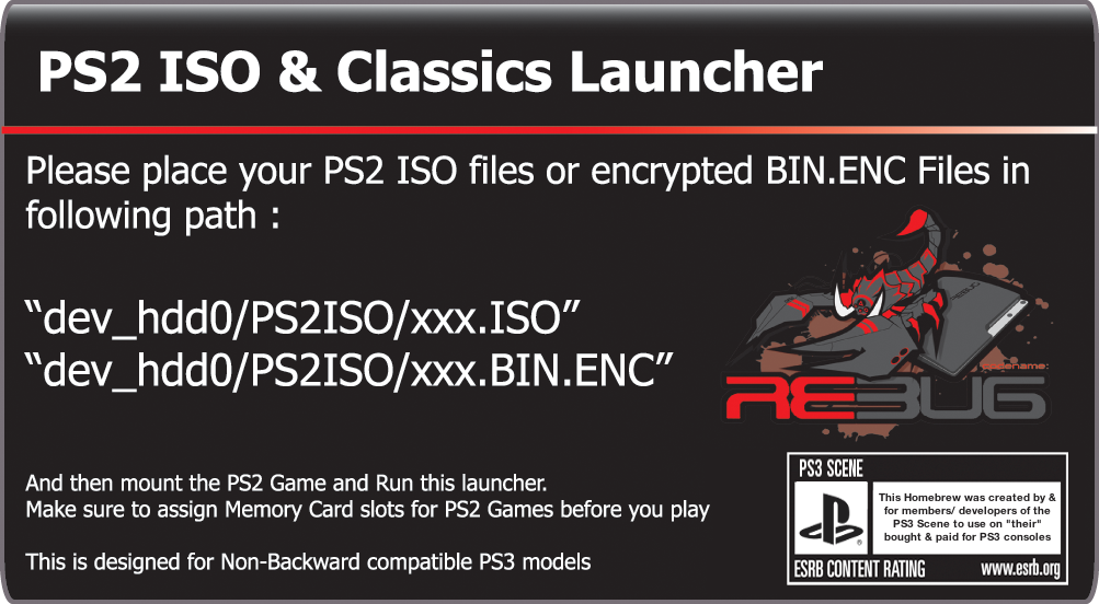 PS3 - PS2 ISO LAUNCHER 1 03 by HABIB | Page 2 | PSX-Place
