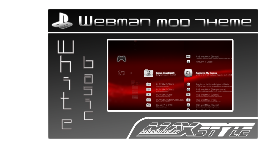 PS3 - webMAN v1 43 23 + Custom Themes from MaxModding | PSX-Place