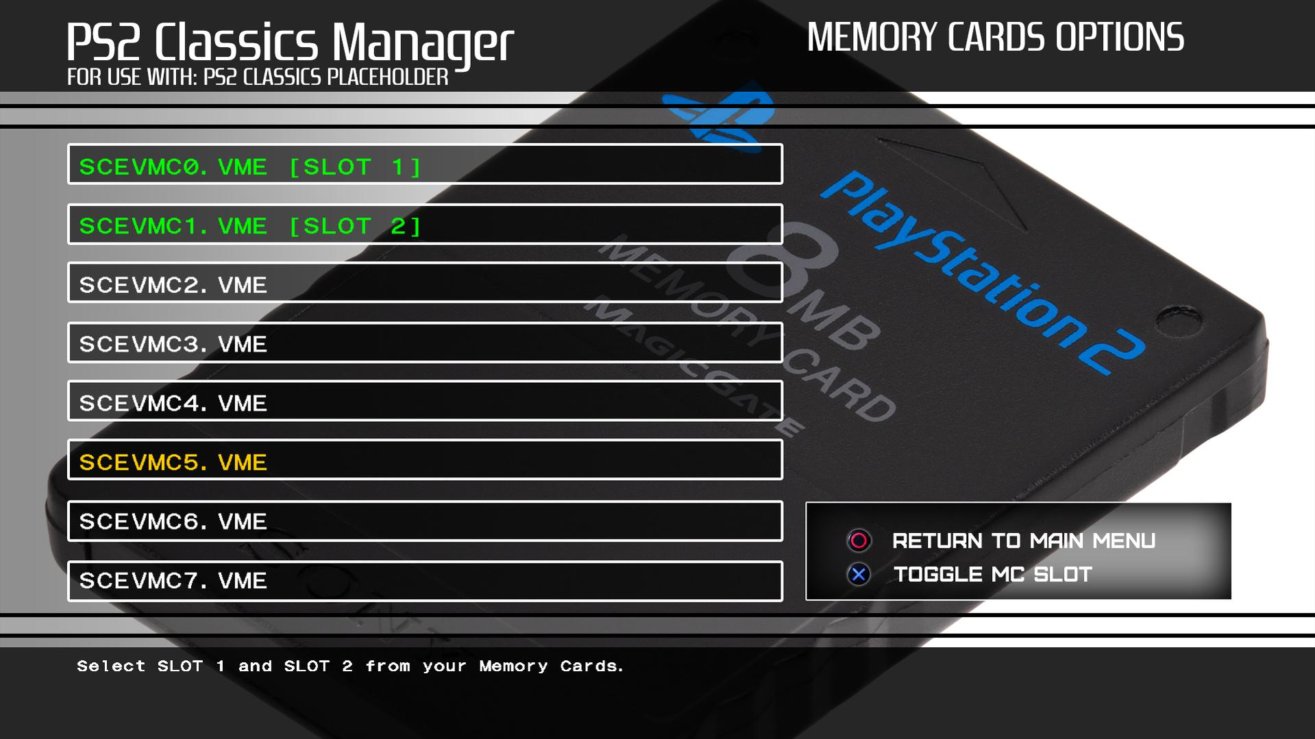 PS2 Classic Manager (& Placeholder) for PS3 by Captain CPS-X