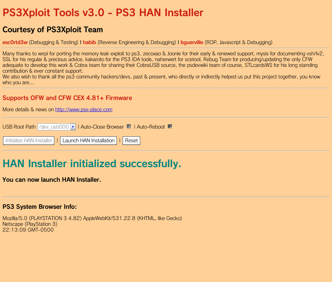 PS3 - PS3Xploit Tools v3 0