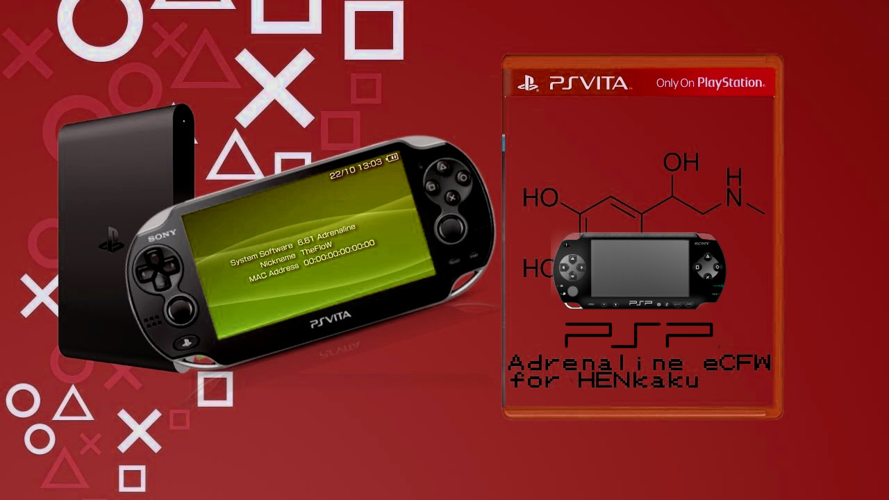 PS Vita / Ps TV - Adrenaline (PSP- 6 61) updated to v6 4 w