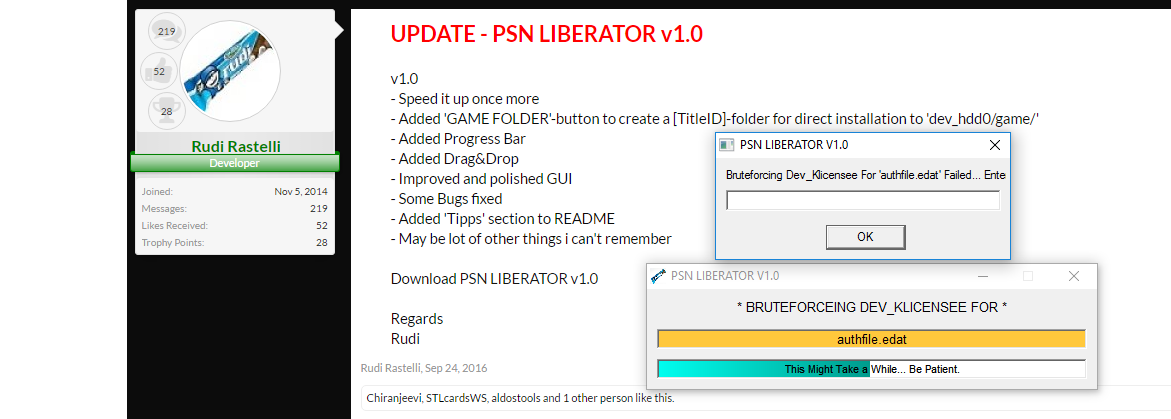 PSN Liberator - Convert PSN Content to Disc Format | Page 5 | PSX-Place