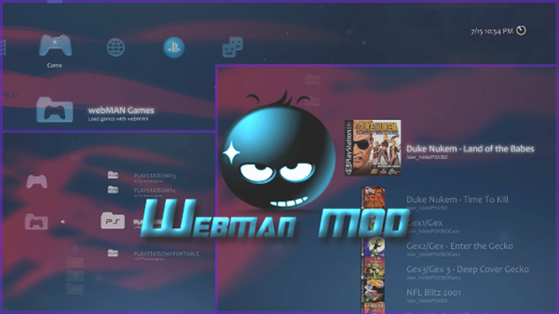 PS3 - webMAN MOD 1 45 11 - With Improved NTFS Support now included