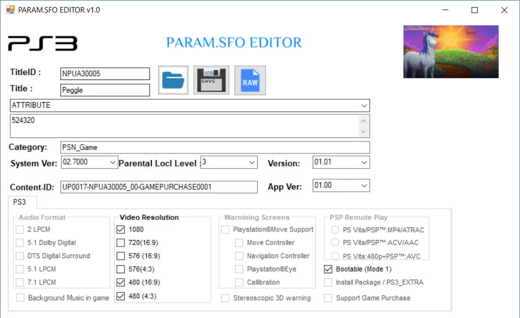 PS4 - PARAM SFO EDITOR V0 2 | PSX-Place